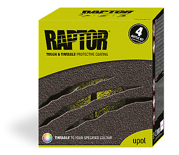 UPOL RAPTOR BED LINER COATING U-POL 6LTR *TINTED TO ANY COLOUR CODE* with gun/1