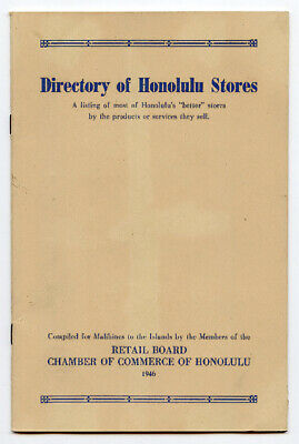 1946 Directory of Honolulu Stores