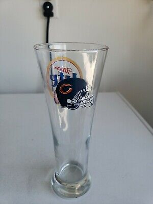 Miller Lite Chicago Bears Tall Pilsner Glass