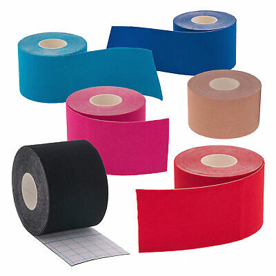 6 Rolls High Quality Kinesiology Tape Sport Physio Muscle Pain Relief Support