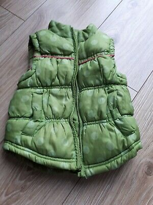 Next Baby Girls Green Gilet/Body Warmer Age 12 -18 Months