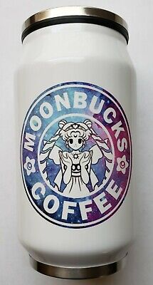 Sailor Moon - Moonbucks Coffee Design - Stainless Steel Bottle Cup with Straw