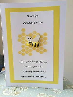 *Personalised be safe card to family/friends. Bee-safe.love.Isolation. bee gift*