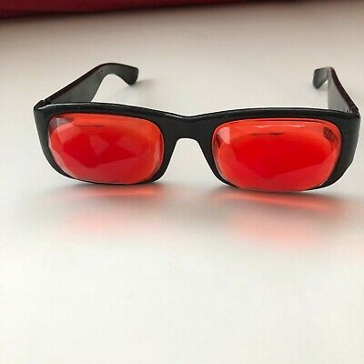 Psychedelic Specs Glasses Original 1960s Hippy RARE Multi-faceted Red Lenses