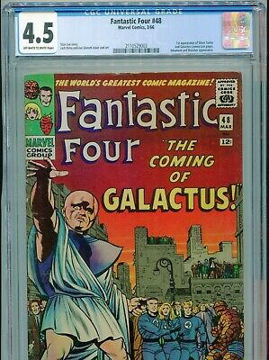 1966 Marvel Fantastic Four #48 1St Appearance Silver Surfer Cgc 4.5 Ow-W Box8