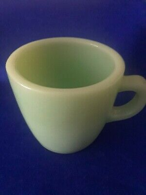 Fire King Jadeite  Heavy Green Glass Cup  Depression Glass