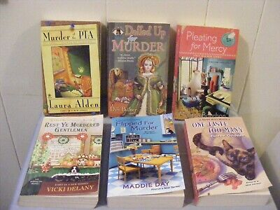 Lot of 6 Cozy Mysteries - 1st in a series - Different authors - pbs FREE SHIP