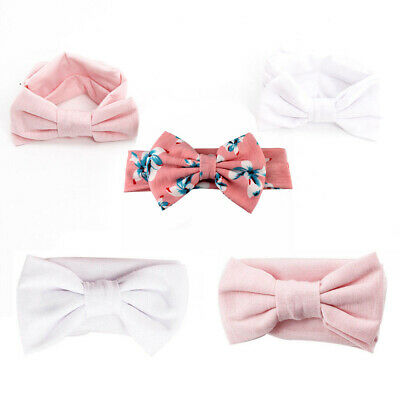 3pcs/Set Baby Girl Headband Ribbon Elastic Headdress Kids Hair Bands Newborn Bow
