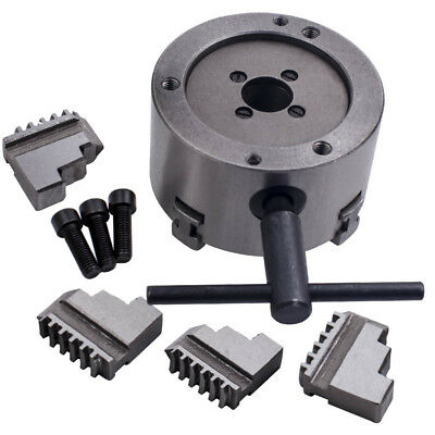 K12-100 100mm Metal 4 Jaw Self-Centering Lathe Chuck With Extra Jaws Accessories