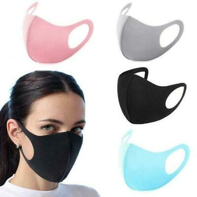 Pack of 4 Reusable Washable Breathable Face Mask Black Anti Dust Mouth UK Stock