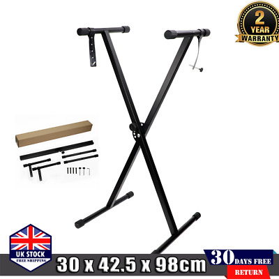 X Steel Frame Keyboard Stand Portable Height Adjustable Electronic Piano Rack
