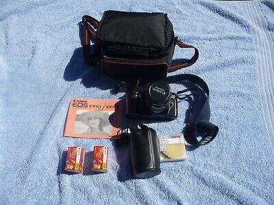 Canon EOS 1000 FN Camera with Canon 35-105 and 80 - 200 mm zoom lens