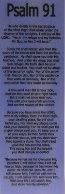 Sobriety / Recovery Bookmark - Psalm 91