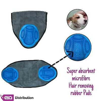E&A SUPER ABSORBENT PET TOWELS- 2 RUBBER PADS POCKETS 60x30cm with QUICK DRYING