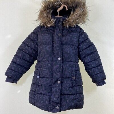 NEXT Animal Leopard Shower Resistant Padded Puffer Parka Coat Jacket age 5 years