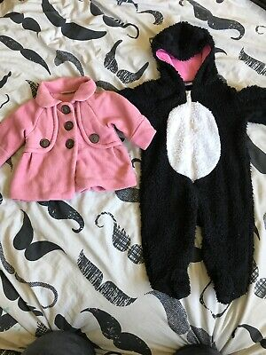 3-6 Month Girls Next Coat And Fluffy Snow Suit