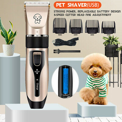 Professional Dog Clippers Pet Cat Clipper Hair Shaver Grooming Trimmer Kit SET