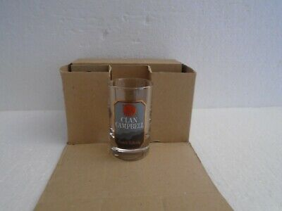 6 Verres Whisky Baby CLAN CAMPBELL Neufs,