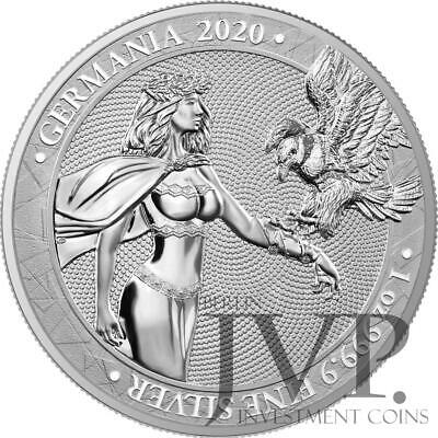 Germania 2020 5 Mark - Germania 1 Oz 999.9 Silver BU Coin