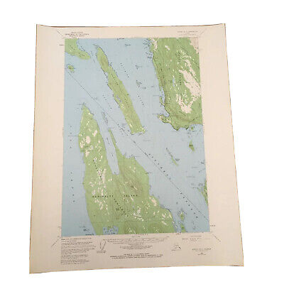 Vintage Original 1966 Juneau Alaska B-3 Quadrangle USGS Topographical  Map