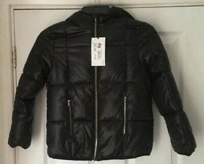 USA PRO Black Wet Quilted Jacket Age 7-8 years BNWT (122cm/128cm EU) RRP £51.99