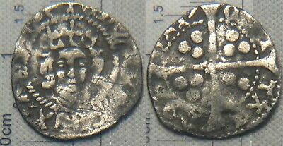 England Unidentified Penny Hammered Silver Coin Edward (III? IV?)