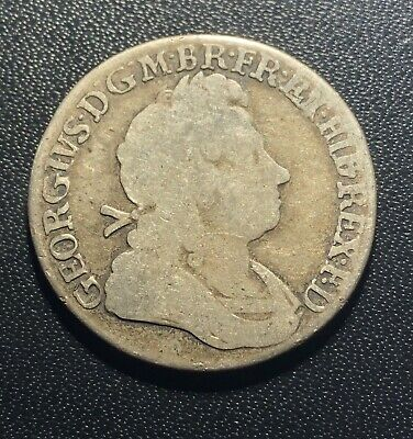 Great Britain 1723 Shilling Silver Coin:  George I