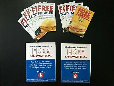 (2) Zaxby's FREE Sandwich Meal and (9) FREE Nibbler Vouchers, No Expiration Date