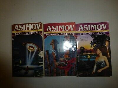 3 Lot The Foundation Series by Isaac Asimov, #2,#3,#4 Books, Paperbacks SF