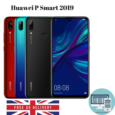 New Sealed Huawei P Smart 2019 64GB 4G LTE Unlocked Dual Sim Android Smartphone