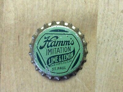 Hamm's Lime & Lemon  Soda Bottle Cap  - Unused - Cork  Lined