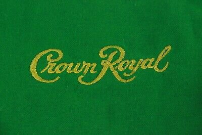 Lot of 12 Crown Royal Apple Green Bags 1LT for crafts, quilts, and sewing