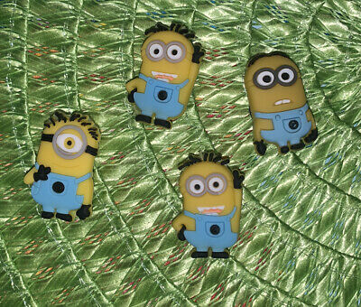 Minion Despicable Me Like Shoe Charms Set Of 4- US Seller