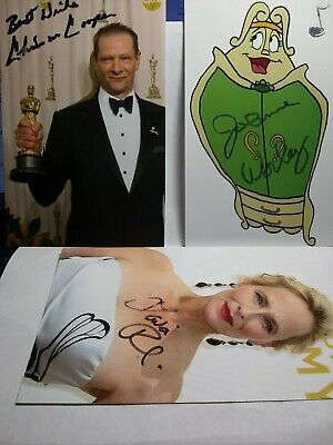 CHRIS COOPER, JO ANN WORLEY & LAILA ROBINS Hand Signed 4X6 Photo 'S  SMEAR