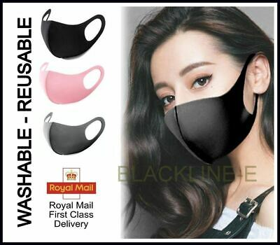 Reusable Unisex Men Women Adult Face Mouth Mask Protection Black Dark Grey Pink