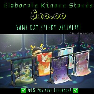 Animal Crossing New Horizons ALL 5 ELABORATE KIMONO STANDS!!