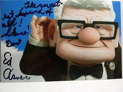 ED ASNER As CARL FREDRICKSON Authentic Hand Signed Autograph 4X6 Photo - up