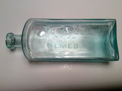 SCARCE Large Packards Scrofula Remedy Rome,N.Y. Medicine Drug Cure Bottle