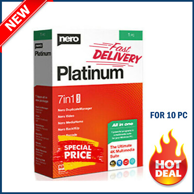 🔥Nero Platinum 2020 LifeTime Multi-language Windows ✔️ Fast Deliv ✔️