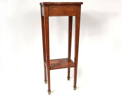 Small Table Flying Cabaret Living Room Marquetry Wood Pink Bronze 19th