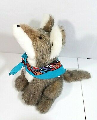 1983 Kathys Kreations Arizona COYOTE HOWL AT THE MOON Stuffed Plush Wolf Dog 16""