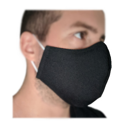 Triple Layer Face mask - Washable/ Reusable (Non-Medical) Black Blue Brown Grey