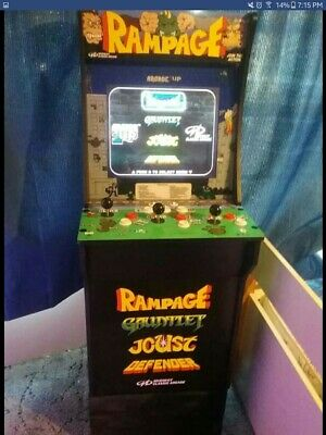 Local New Rampage 3 Player Arcade 1up Machine Retro Video Game 1 Up assembled