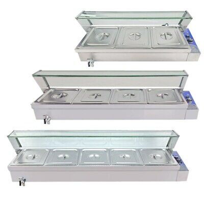 Bain Marie 3/4/5x1/2GN Commercial Electric Food Warmer Stainless Steel Buffet AU