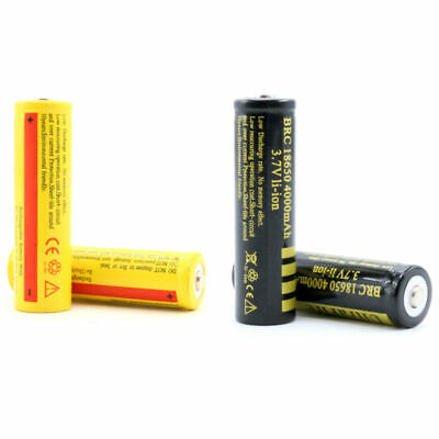 Protected BRC 18650 Rechargeable Li-ion Battery 3600/4000mAh 3.7V Lithium Cells