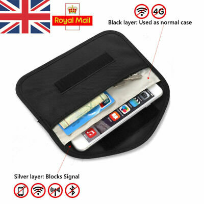 UK Car Key Keyless Entry Fob Signal Blocker Faraday Bag Larger Version RFID Case