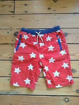 Mini Boden boys pull on shorts, age 10,  red with white stars and blue trim vgc