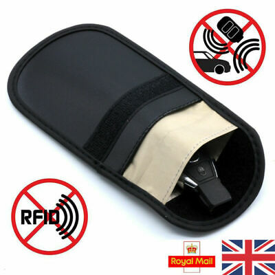 UK Car Key Signal Blocker Case Faraday Cage Fob Pouch Keyless RFID Blocking Bag