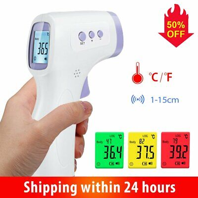 Medical Non-Contact IR Infrared Thermometer Gun LCD Digital Forehead Fever Baby