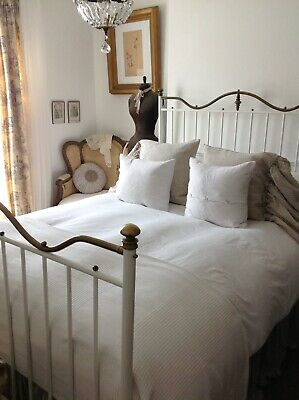 Victorian Iron & Brass Double Bed